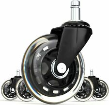 Office Desk Chair Set of 5 Replacement Casters Wheels Casters Hardwood Floor