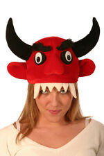 SILLY GOOFY HORNED RED DEVIL FUN NOVELTY HAT MANCHESTER UNITED
