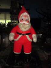 "Vintage RUSHTON SANTA CLAUS Rubber Face Doll 40"" Figure Mid Century Modern toy"