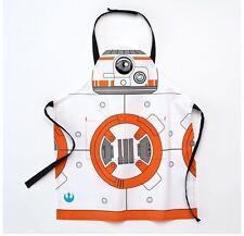 Disney Star Wars Kid's BB-8 Droid Youth Child Apron White Orange NWT