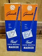 Generals Vtg Finest Paper Wrapped Grease Marker Black General Pencil Co USA