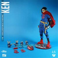 J.T STUDIO JT Unjustice Ken Action Figure Superman Model 1/6 Led Light In Box