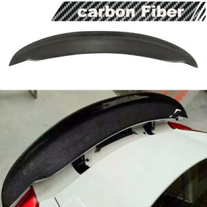 Fit For Porsche Cayman 981 Coupe 10-16 Rear Trunk Boot Spoiler Wing Carbon Fiber