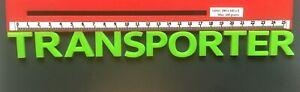 VOLKSWAGEN TRANSPORTER GREEN REAR BADGE LETTERS BESPOKE 3mm ACRYLIC 3M BACKING