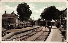 Chiseldon near Swindon, Railway Station, postcard, Chiseldon Camp 1917 postmark