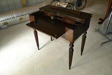 Antique Mahogany Wood Secretary Lady's Writing Desk Flip-Top Table Neoclassical