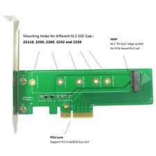 M.2 M-key NVMe To PCI-e 3.0 x4 Card dual voltage power supply