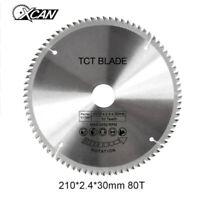 210mm 80T 30mm TCT Sägeblatt Kreissägenblatt Durchmesser Kreis Säge Blatt Neu DE