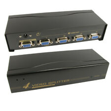 4 Port Way SVGA VGA Splitter Box Boosts Signal too