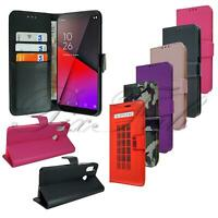 Case For Vodafone Smart X9 Premium Black Leather Phone Wallet + Screen Protector