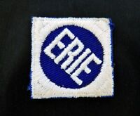 Vintage Embroidered Erie Railroad Sew On Patch Embroidered NY NJ Railroadiana