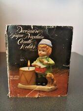 Vintage Christmas Drummer Boy Porcelain Bisque Candle Holder (#17-17)