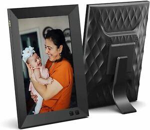 NIX 8 Inch Digital Picture Frame (Non-WiFi) - Portrait or Landscape Stand, HD Re