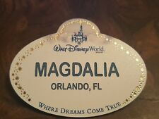 WALT DISNEY WORLD AUTHENTIC CAST MEMBER NAME TAG MAGDALIA ORLANDO, FL