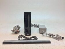 Nintendo Wii Console RVL-001 Black with AC Adapter, AV Cable & Sensor Bar- AS IS