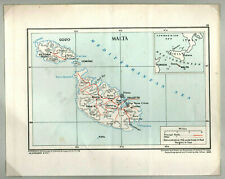 Malta  orig. Landkarte  1948  -  Map printed by the War Office 1948