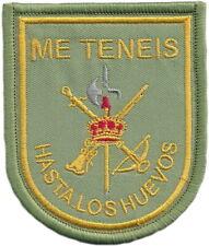 EJERCITO TIERRA LEGIÓN ME TENÉIS HASTA LOS HUEVOS SPAIN LEGION PARCHE EB01469