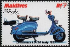 1957 LAMBRETTA LD-150 Scooter (Italy) Motorcycle Motorbike Stamp