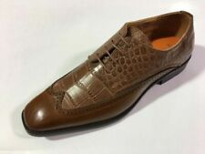 Men's Antonio Cerrelli Tan Exotic Oxford Gator Print Dress Shoes Style 6714