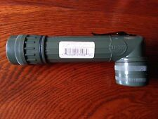US Army OLIVE GREEN Right-Angle TL-122 TORCH - WW2 Repro Large LED Flashlight
