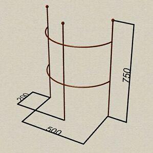 Staudenhalter Easy Staudenstütze Rankhilfe 75cm 120cm 160cm Rost