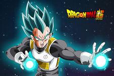 Dragon Ball Super Poster Vegeta Blue Firing 12in x 18in Free Shipping