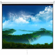 "120"" HD 1:1 Pull Down Projector Manual Projection Screen w/ Auto Lock 1.3 Gain"