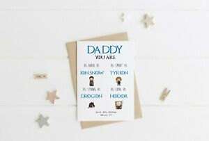 Personalised Game of Thrones Birthday Card For Step Dad Daddy Fathers Day