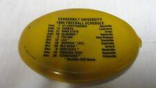 Lays hot dogs Nashville Vanderbilt Football SEC 1985 Schedule Rubber Coin Purse