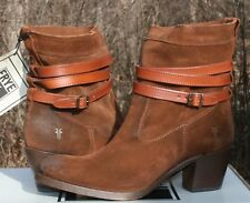 FRYE JANE STRAPPY SHORT US 9 Woman's Boot Suede