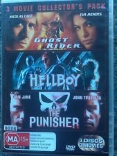 3 MOVIE PACK - Ghost rider / Hellboy / The Punisher - DVD # 0016