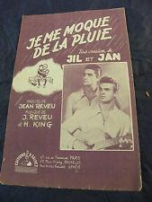 Partitura Je me diversión de la lluvia Jil & Jan 1947 Music Sheet