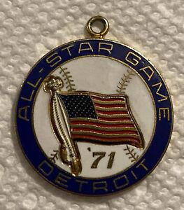 Vintage 1971 Balfour All Star Media Press Charm Detroit Tigers/Tiger Stadium