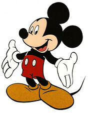 """6X7"""" Disney Mickey Mouse glitter large IRON On TRANSFER Heat Vinyl welcome arms"""
