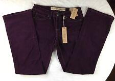 NWT Nine West Vintage America Purple Corduroy Pants Mid Rise Boot Cut Size 6/27