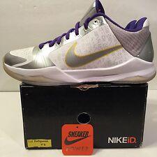 Nike Zoom Kobe Bryant V 5 Sz 12 Kid Hollywood ID White Purple Black 81 IV I Vi X
