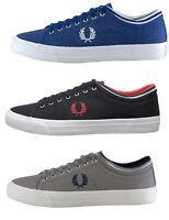 Fred Perry Men's Kendrick Tipped Low Top Canvas Casual Tennis Shoes Sneakers