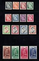 New Zealand stamps #288 - 301, 1 used, rest MHOG, VVF, SCV $112.50