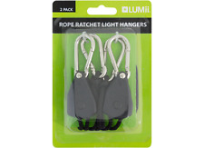PAIR LUMII ROPE RACHETS 40kgs 2M ROPE For Carbon Filters, Fans & Grow lights