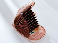 Women Girl Expanding Zip-Around Leather Small Wallet Cardholders Tassel Purse