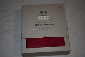 Hunter Original Boot Socks Color Red Size L New Open Box