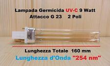 Lampada germicida UV 9 Watt UVC PL-S G23 ultravioletti sterilizzatrice