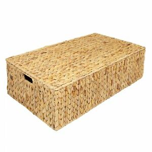Water Hyacinth Under Bed Storage Box Trunk Chest Basket, Large or Extra Large