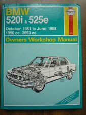 BMW 520i 525e Lux E28 M20B20 M20B27 M20 MF Owners Workshop Service Repair Manual