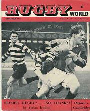 Rugby World Magazine de diciembre de 1961 Wilson Whineray Nueva Zelanda All Black Perfil
