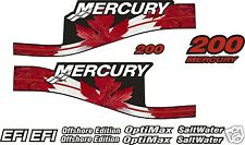 MERCURY 200 Canadian DECAL KIT 115 150 175 225  250 efi saltwater optimax