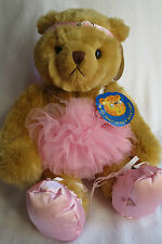 New Collectable Rare Bear Factory Golden Bear Born 2002 & Tutu / Ballet Outfit
