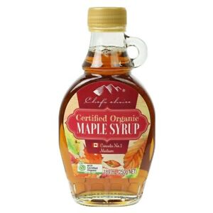 Chef's choice Canadian Organic maple syrup 189ml (250g)