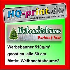 €16,58/m² Werbebanner 200x60cm Weihnachtsbäume Weihnachtsbäume Verkauf christmas