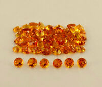 NATURAL GOLDEN CITRINE 5.5 MM ROUND CUT FACETED LOOSE AAA GEMSTONE LOT